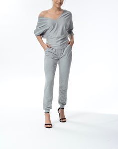 JESSICA - Drawstring Pants - Grey