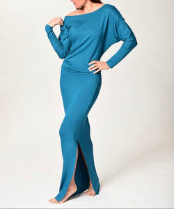 MYA - Long Fitted Dress - Jade -S-016