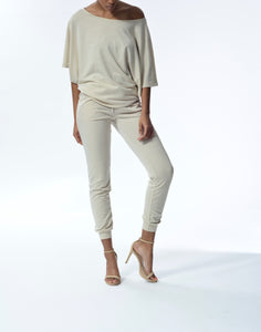 JESSICA - Drawstring Pants - Taupe