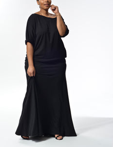JACKIE - Long Flowy Skirt/Dress - Black