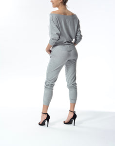 LINDSEY - L/S Top - Grey