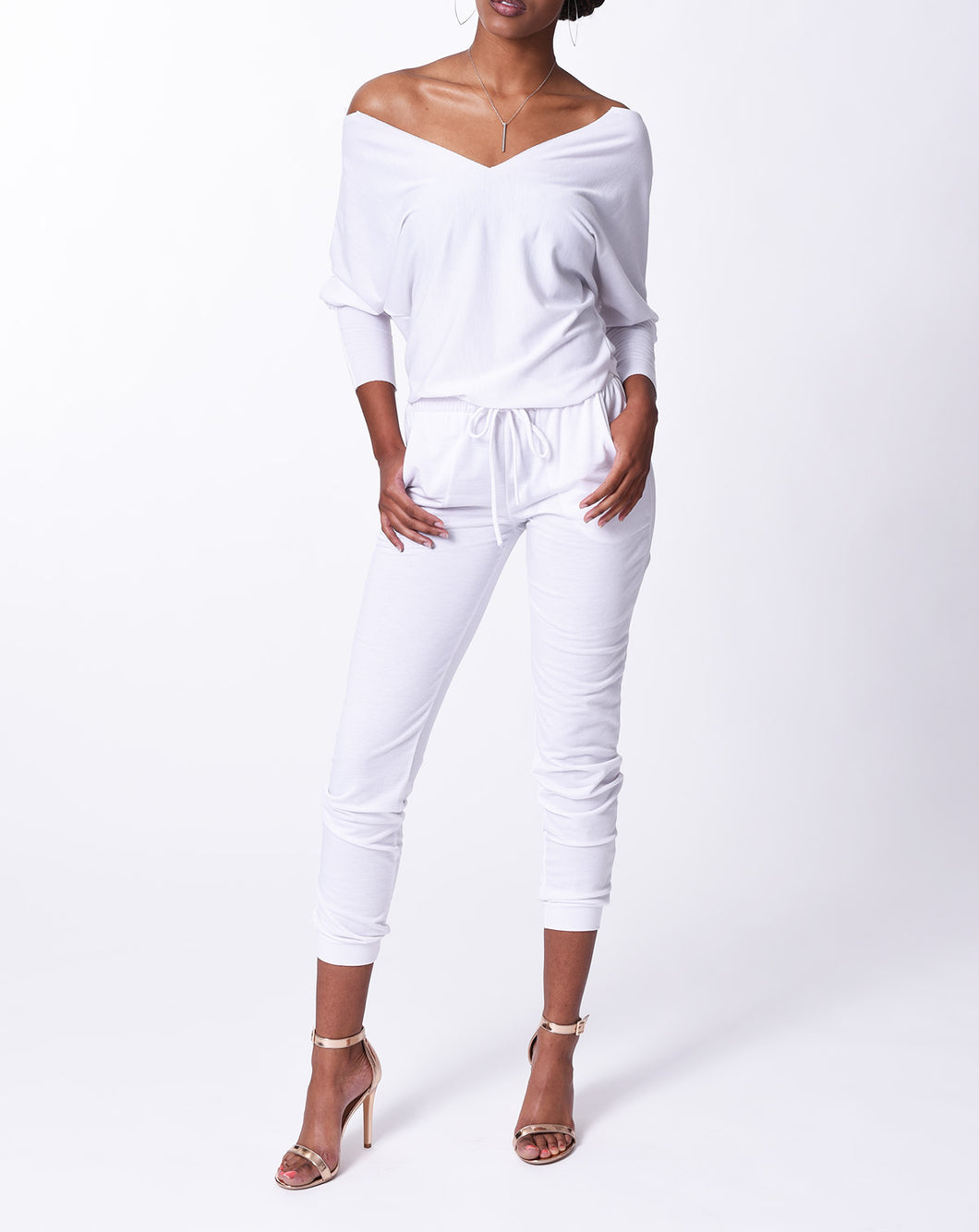 LINDSEY - L/S Top - White