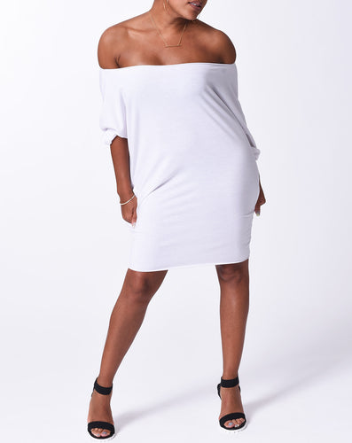 MELIA - Short Dress w/ pockets - White