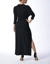 Load image into Gallery viewer, MILAN - Long Slit Dress - Black