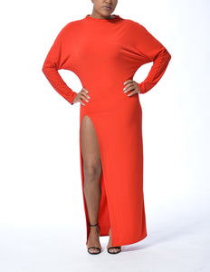 MILAN - Long Slit Dress - Red - Limited Edition