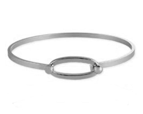 White Gold Oval Bracelet