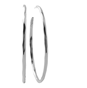 White Gold Round Hoop Earrings