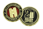 343 Firefighter Limited Edition 20th Anniversary World Trade Center 2001-2021 Never Forget Challenge Coin