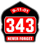 343 Never Forget Reflective Helmet Shield Decal