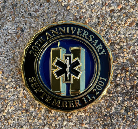 EMS Limited Edition 20th Anniversary World Trade Center 2001-2021 Never Forget Challenge Coin