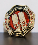 Remember 9/11 343 Twin Towers Limited Edition 20th Anniversary Pin
