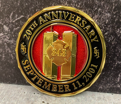 343 Firefighter Limited Edition 20th Anniversary World Trade Center 2001-2021 Never Forget Challenge Coin ( Stocking Stuffer )