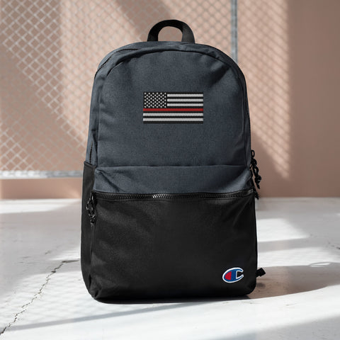 Embroidered Thin Red Line Champion Backpack