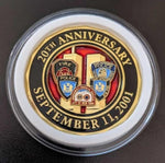 Multiple Agency Limited Edition 20th Anniversary World Trade Center 2001-2021 Never Forget Challenge Coin