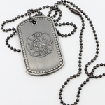 Firefighter's Prayer Fire Rescue Maltese Cross Dog Tag