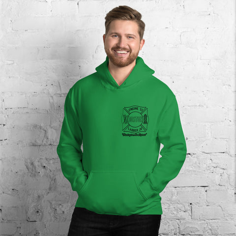 Limited Edition Irish Boston, First Due At Fenway Kelly Green Short-Sleeve Gildan Hooded Sweatshirt