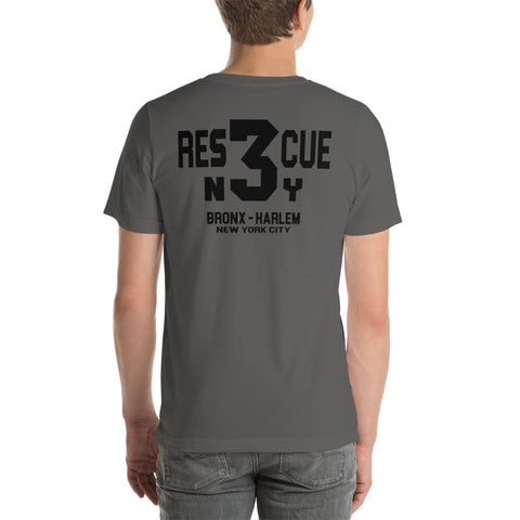 RESCUE 3 Bronx Harlem T Shirt Bella Canvas Short-Sleeve T-Shirt