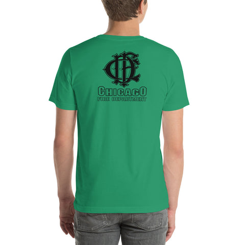 Limited Edition Chicago Fire Department Irish Short-Sleeve Kelly Green Bella Canvas T-Shirt