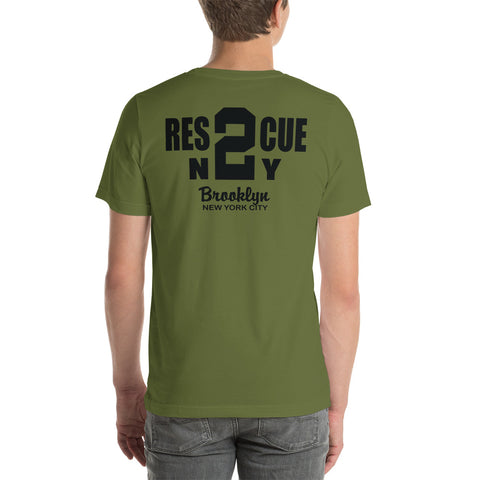 Rescue 2 Brooklyn F.D. Duty T-Shirt Short-Sleeve Bella Canvas T-Shirt
