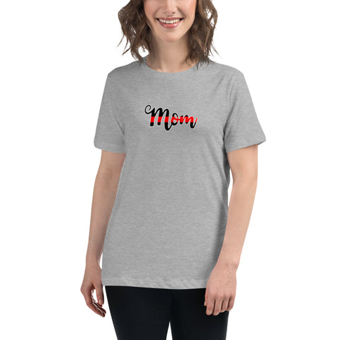 MOM Thin Red Line Bella Canvas Women's Relaxed Tee