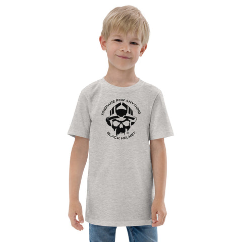 Black Helmet Prepare For Everything Youth Tee