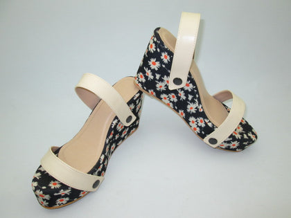 Interchangeable Cork Wedge Sandals
