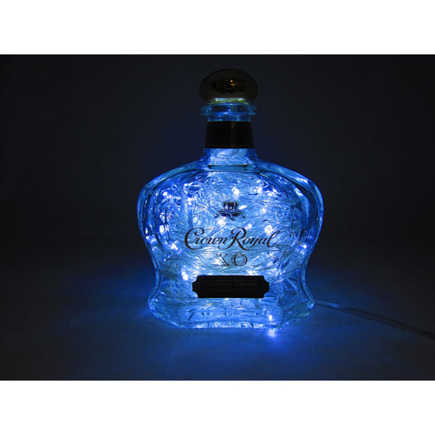 "Electric Blue Lighted ""Crown Royal XO"""