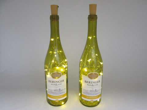 Set of Baringer Chardonnay Battery Operated Table Top Lights