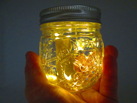 Battery Operated Ball Jar Table Top Light