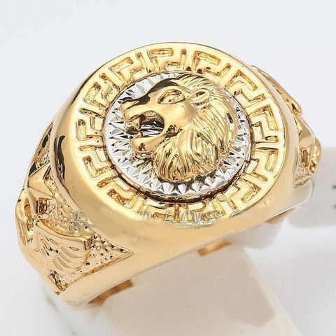 Gold Plated Lion Ring - Zerovov