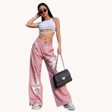 Load image into Gallery viewer, Anastasia Pink Loose Baggy Printed Wide Leg Pants