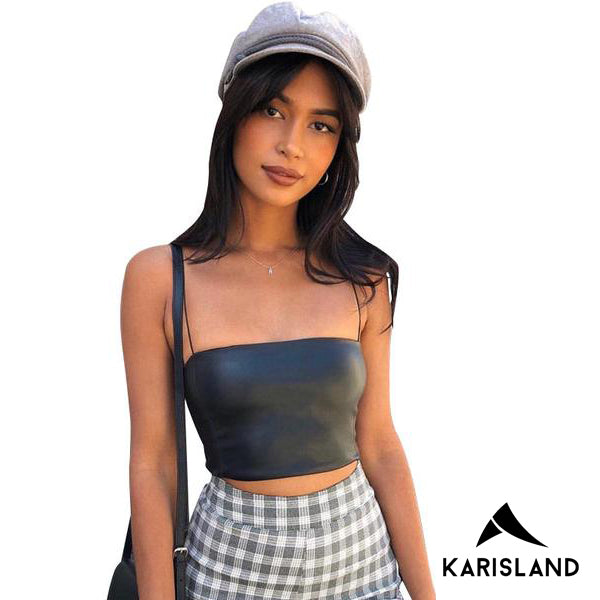 karisland Leather Tube Top - karisland