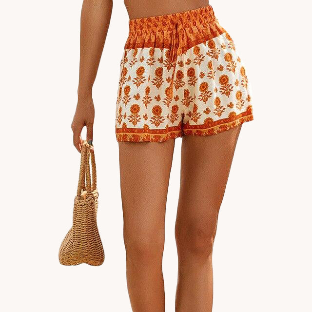 karisland Orange / S Averie Summer Short - karisland