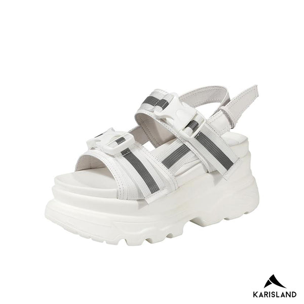 karisland Chunky Beach Leather Sandals - karisland