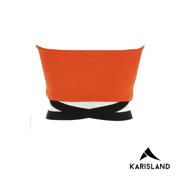 karisland Checkered Contrast Crop Top - karisland