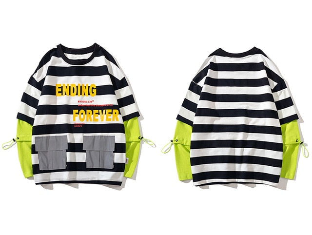 karisland Black / M Two Pieces Striped Sweatshirts - karisland