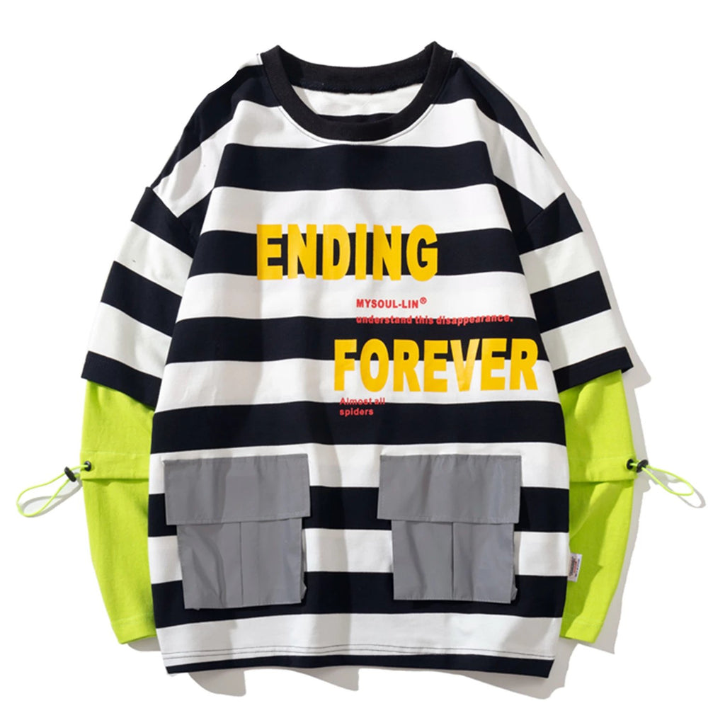 karisland Two Pieces Striped Sweatshirts - karisland