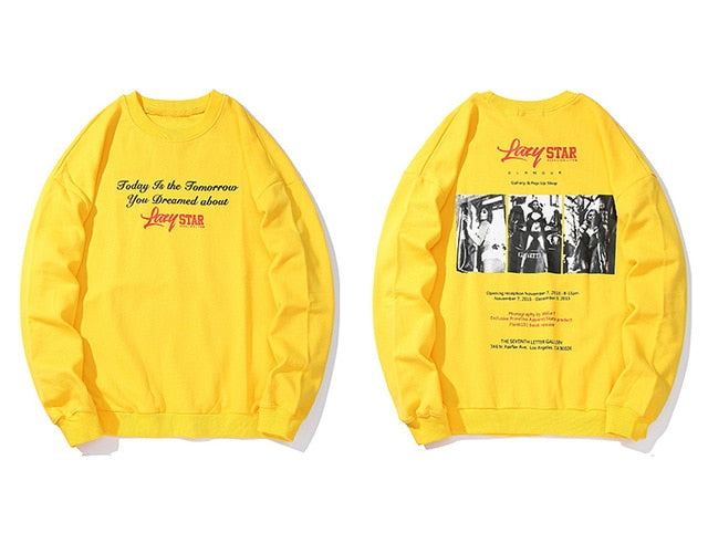 karisland Yellow / M Printed Long Sleeve Sweatshirt - karisland