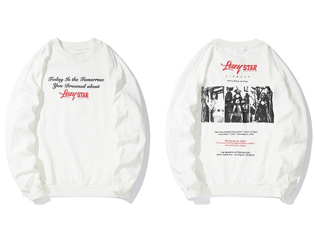 karisland White / M Printed Long Sleeve Sweatshirt - karisland