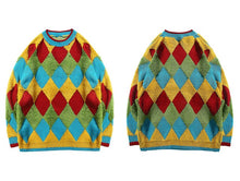 Load image into Gallery viewer, Autumn Argyle Male Pullovers
