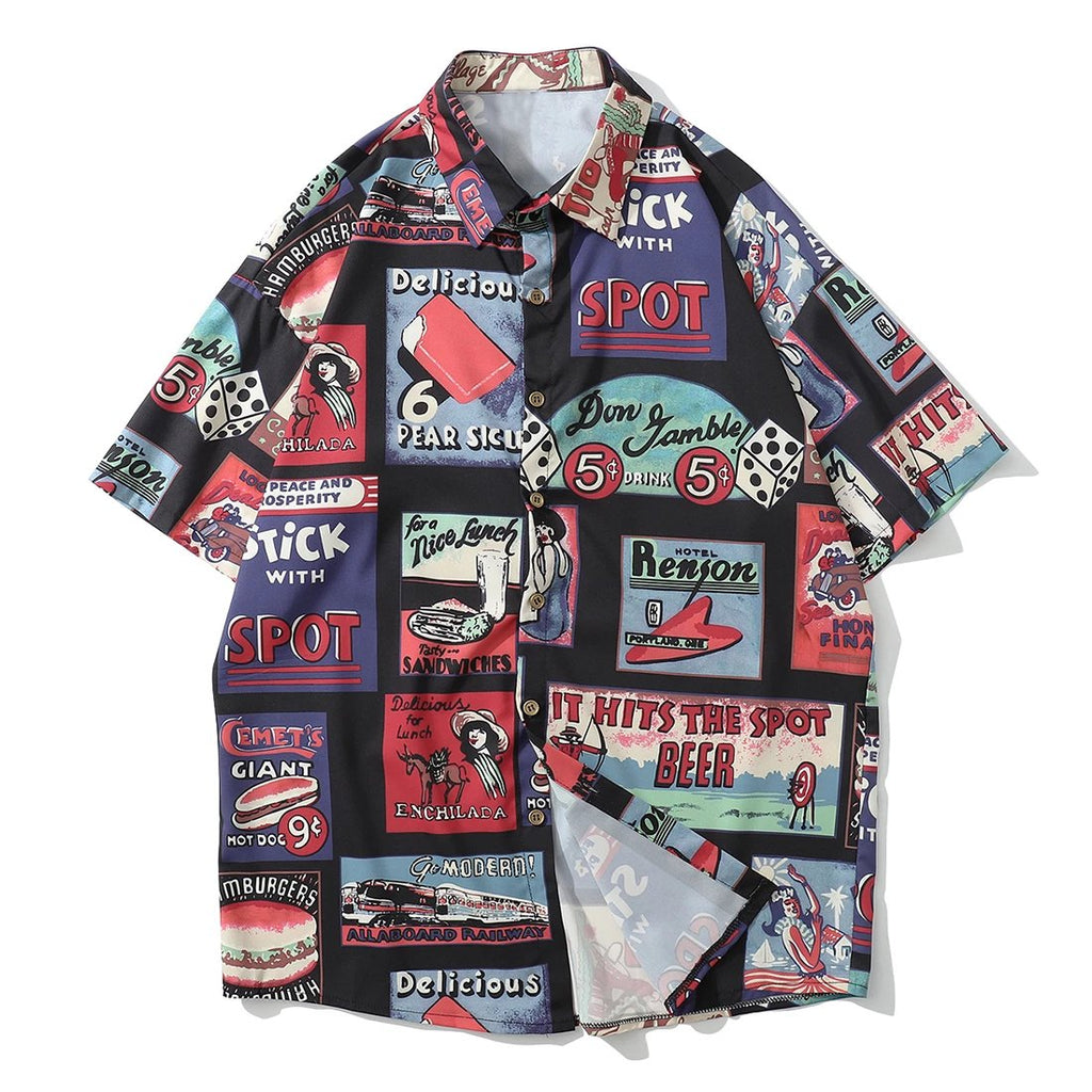 karisland Men Shirt Casual Hawaii Summer Hip Hop Street-wear - karisland