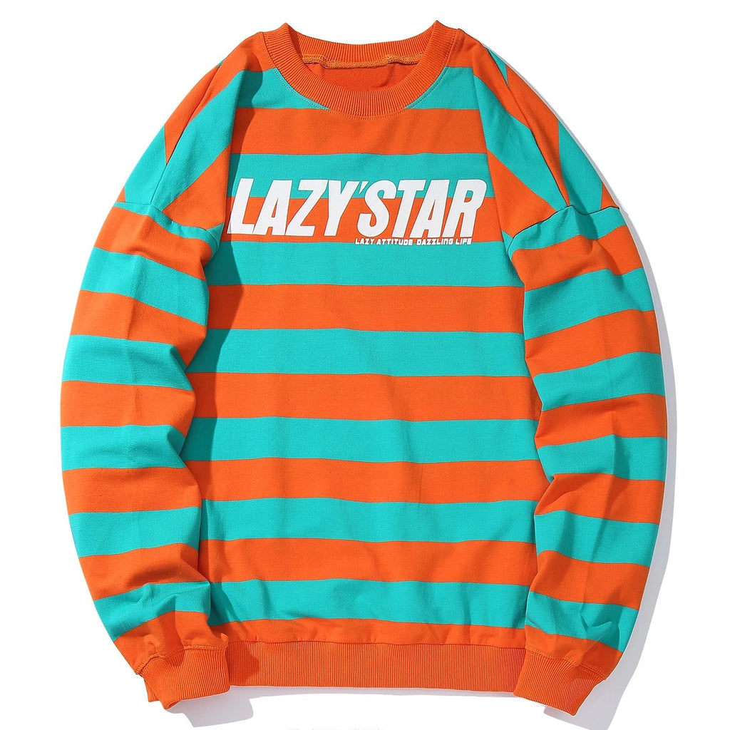 Striped Letter Printed Sweatshirt