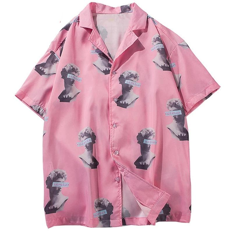 Men's Fashion Turn-down Collar Full Print Hawaii Shirts