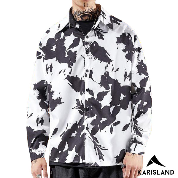 karisland Bailey Black and White Long Sleeve Polo - karisland