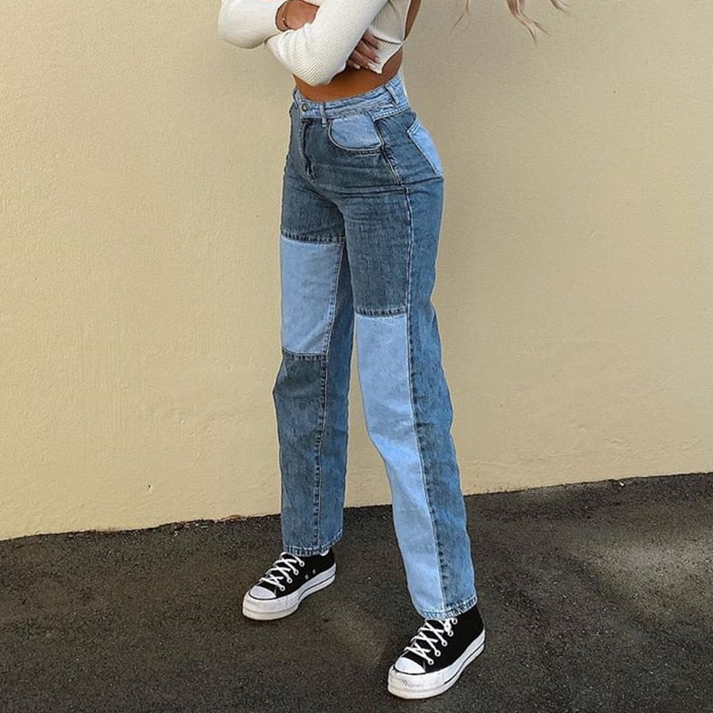 SUCHCUTE E-girl Women's jeans Baggy Y2K high waist Straight pants denim trousers 2020 fashion streetwear boyfriend Joggers 90s