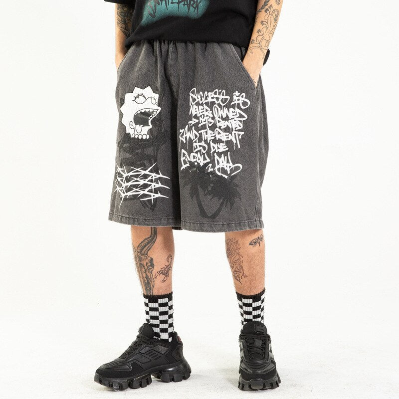 karisland Black / M Boston Cartoon Shorts - karisland