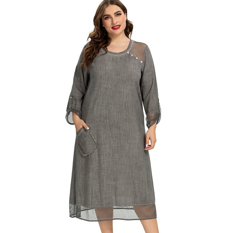 karisland Gray / XL Vintage Dress - karisland