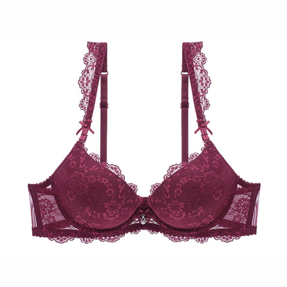 CYHWR High-end Lace Adjustable Elegant Push Up Women's Underwear Solid Intimates Bra for Women