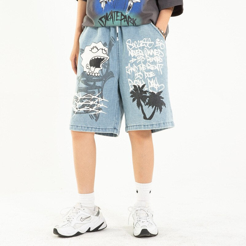 karisland Blue / M Boston Cartoon Shorts - karisland