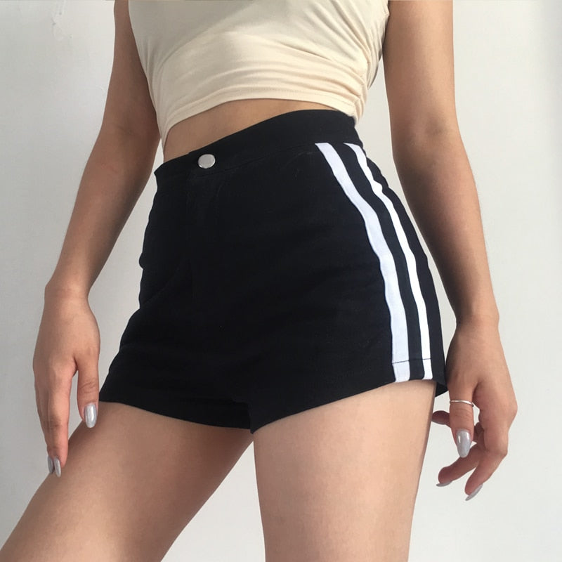 karisland Sexy Bodycon Black Casual High Waist Short Pants - karisland